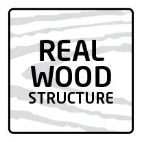 Real wood structure