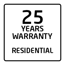 25 years residential warranty