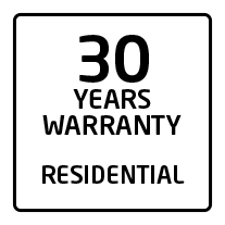 30 years residential warranty
