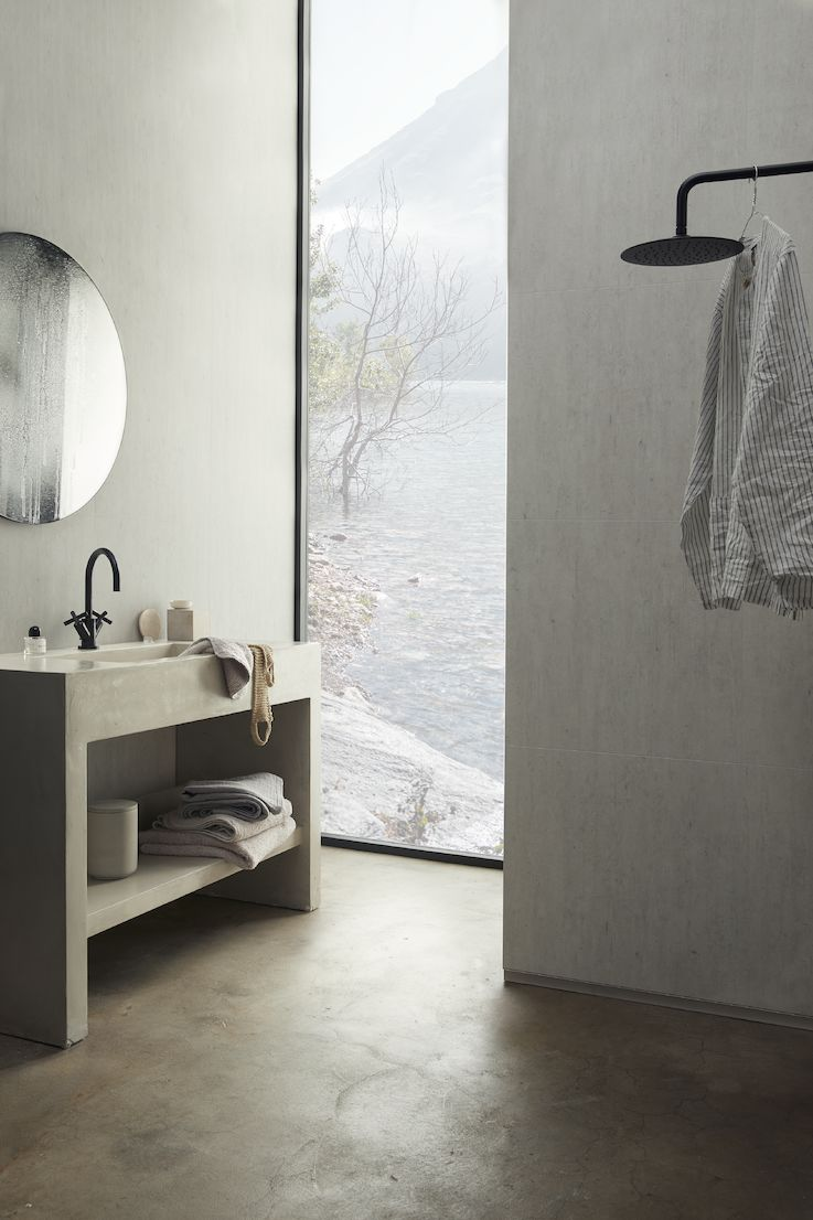 Brooklyn Concrete Brushed allover Bathroom Wall panel