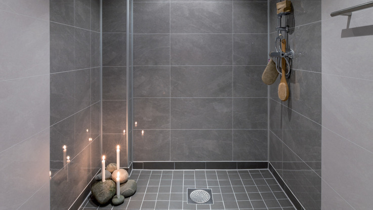 Natural Slate Glossy Finish 60 x 30 Bathroom Wall panel