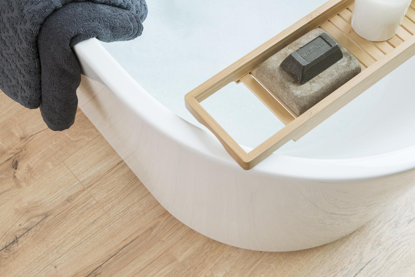 Laminado para suelo de baño cálido y resistente al agua ...