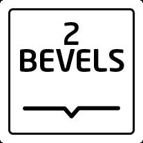 2 bevels
